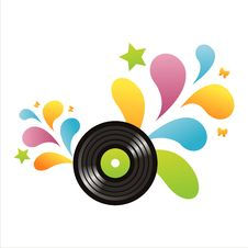 Free Colorful Vinyl Record Background Stock Image - 14132681