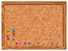 Free Blank Corkboard With Pins Stock Images - 14132884