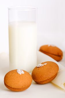 Free Glass Of Milk With Cookies Stock Photos - 14132903