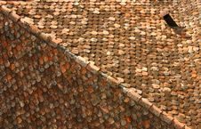 Old Red Roof Stock Photo
