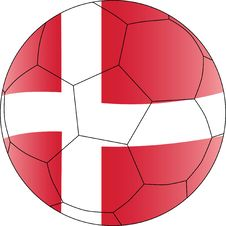 Free Soccer  Ball Denmark Royalty Free Stock Image - 14133126