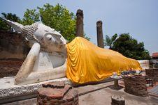 The Reclining Buddha Royalty Free Stock Photos