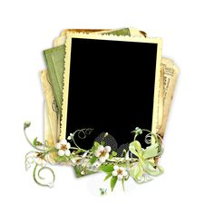 Spring Frame With Apple Tree Flowers Stock Image