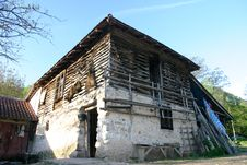 Serbian Native Village Royalty Free Stock Images