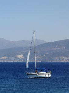 Sail Boat On The Sea Stock Photos