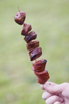 Free Grilled Sausage Stock Image - 14134411