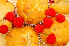 Free Background Of Raspberry Muffins Royalty Free Stock Image - 14134576