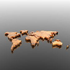 Free World Geographical Map Silhouette Stock Photography - 14134802