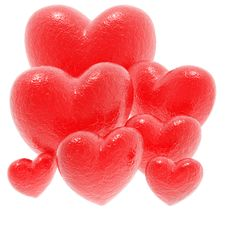 Free Red Love Hearts Royalty Free Stock Photo - 14135225