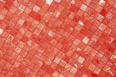 Free Red Tiles Wall Stock Image - 14135401