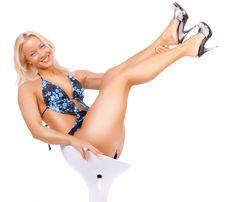 Free Sexy Blonde Wearing Bikini Stock Photos - 14135433