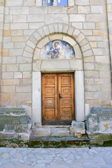 Serbian Orthodox Monastery Door Royalty Free Stock Photos