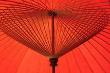 Free Bright Red Umbrella Royalty Free Stock Images - 14135819