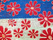Embroidery Fabric Royalty Free Stock Images
