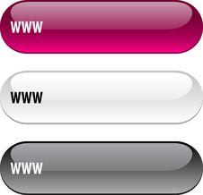 Free WWW Button. Royalty Free Stock Photo - 14137175