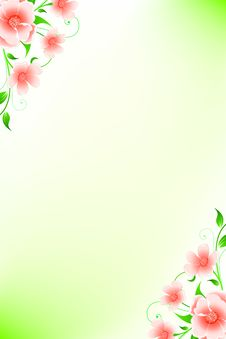 Free Abstract Grunge Background With Flowers Stock Images - 14137734