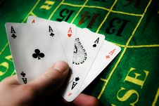 Free Poker Of Aces. Royalty Free Stock Photography - 14137807