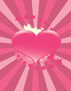 Free Valentine Heart Background Royalty Free Stock Images - 14138029