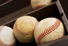Old Baseballs Royalty Free Stock Photos