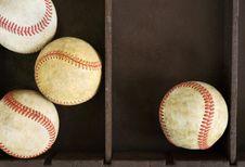 Baseballs In Box Royalty Free Stock Photos