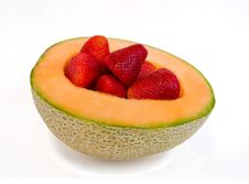 Free Cantaloupe And Berries Royalty Free Stock Images - 14138579