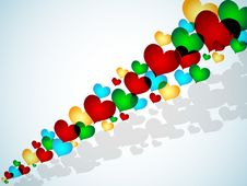 Free Flying Hearts Stock Images - 14138634