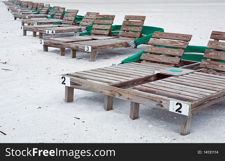 Wooden Beach Lounge Chairs