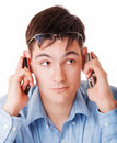 Free Young Man Talking On Phone Stock Images - 14141094