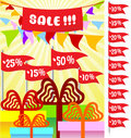 Free Poster For Holiday Sale 3 Royalty Free Stock Image - 14145376