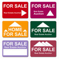 Free Real Estate Sale Signs Royalty Free Stock Photography - 14148347