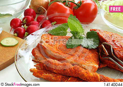 Free Unroasted Barbecue. Stock Images - 14140044