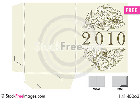 Free Template For Gift Map Stock Photos - 14140063