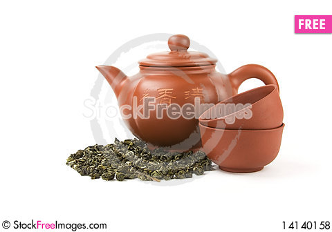 Free Teapot And Two Cups Royalty Free Stock Photos - 14140158