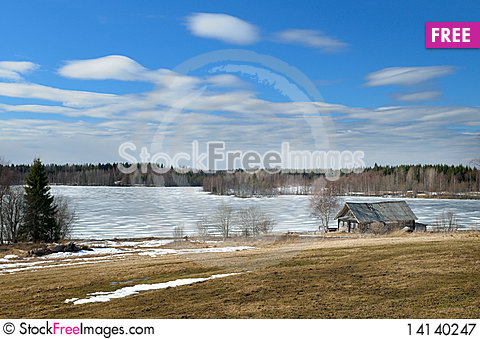 Free Old Homestead In The Spring. Royalty Free Stock Photography - 14140247
