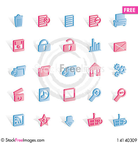 Free 25 Detailed Internet Icons Royalty Free Stock Images - 14140309