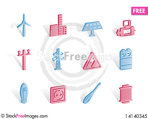 Free Electricity And Power Icons Royalty Free Stock Photo - 14140345