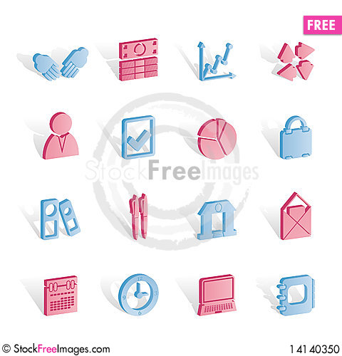 Free Business And Office Icons Stock Photo - 14140350