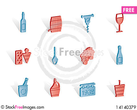Free Wine And Drink Icons Royalty Free Stock Images - 14140379