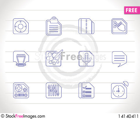 Free Mobile Phone, Computer And Internet Icons Stock Image - 14140411