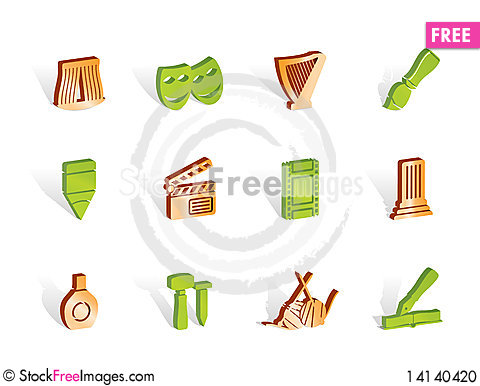 Free Different Kind Of Art Icons Stock Photo - 14140420
