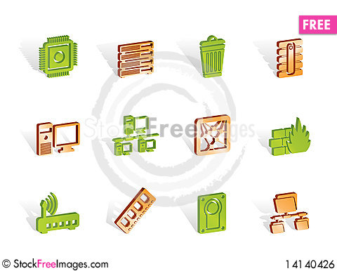 Free Computer And Website Icons Royalty Free Stock Image - 14140426
