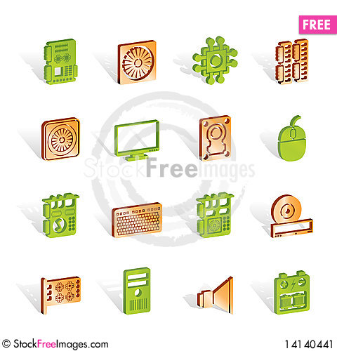 Free Computer  Performance And Equipment Icons - Stock Image - 14140441