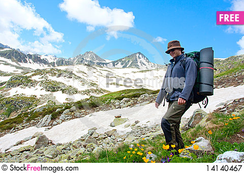 Free Hiker Royalty Free Stock Photography - 14140467