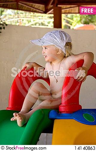 Free Child Playing In Sandbox Stock Photos - 14140863