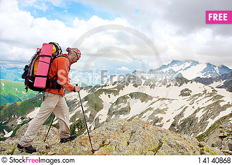 Free Hiker Royalty Free Stock Photos - 14140868