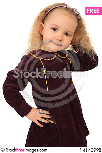 Free Little Funny Girl Royalty Free Stock Photos - 14140998