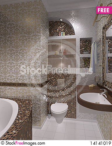 Free Bathroom Royalty Free Stock Images - 14141019