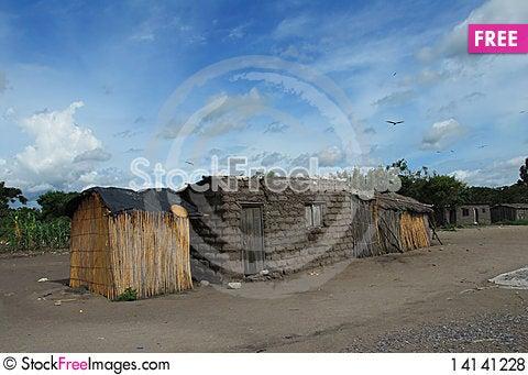 Free Africa Village Royalty Free Stock Photos - 14141228