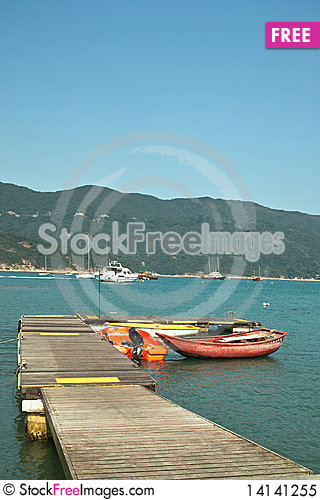 Free Little Pier With Boats Royalty Free Stock Photo - 14141255