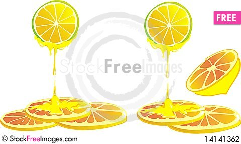 Free Vector Lemon And Honey Stock Photography - 14141362